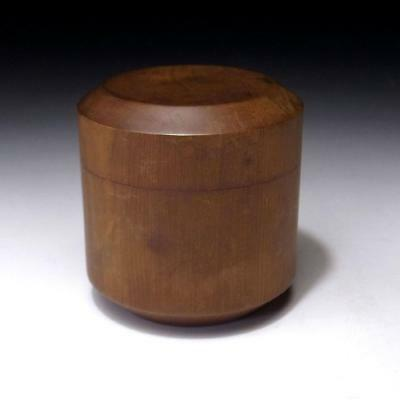 IM3: Vintage Japanese Wooden Tea Caddy, Natsume, Natural wood, Tea ceremony