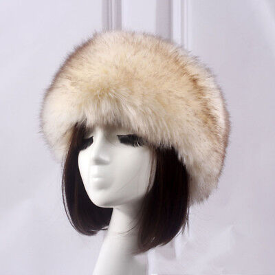 4077d3db929 Women Russian Fluffy Fox Fur Hats Headband Winter Ear Warmer Ski Caps Hot