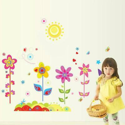 Flowers Sunshine Removable Wall Sticker Decal Wallpaper Baby Kids Room Decor DP
