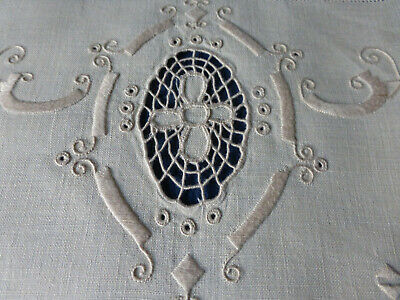 5 x beautifully embroidered Linen chair backs