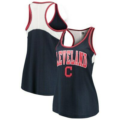 finest selection 5116a 07973 Cleveland Indians 5th   Ocean by New Era Women s Baby Jersey Racerback Tank  Top