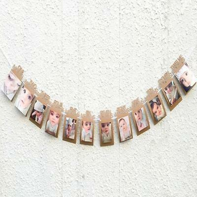 Baby Shower Banner Party Bunting Cardboard hanging Decor Decoration Prop GG