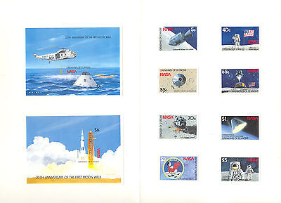 St. Vincent Grenadines 1989 Apollo 11 Helicopters Space 8v & 2v s/s imperf proof