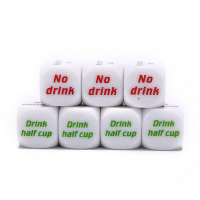 7pcs funny drink drinking sip dice roll decider die game party bar club pub CSY