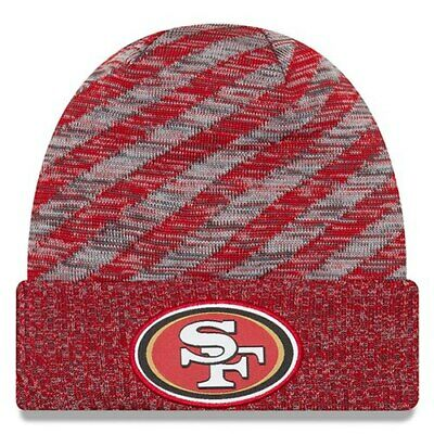 pretty nice fc906 00508 San Francisco 49ers New Era 2018 NFL Sideline Cold Weather Official TD Knit  Hat