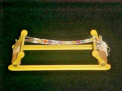 Small Plastic Vintage Wal American Indian Bead Jewelry Loom