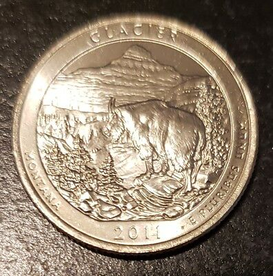 2011-P Glacier NP America the Beautiful Quarter - From Mint Roll! (8396)