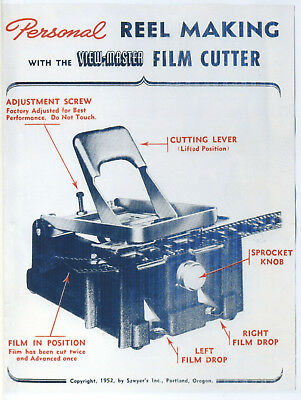 -Copy of Instructions for Personal Reel Making with View-Master Film Cutter