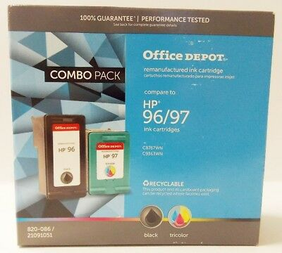 Refurbished Ink Cartridge Combo for HP 96 97 C8767WN C9363WN Black Color