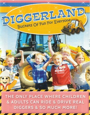 DIGGERLAND entry pass for 4 people - Valid Kent, Durham, Devon & Yorkshire parks