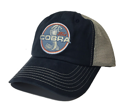 New Ford Mustang Cobra Embroidered Logo Patch Hat/cap Gt350 Gt500 Svt Cobra