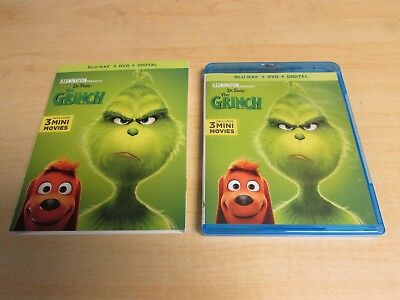 Dr Seuss How the Grinch Stole Christmas Blu Ray & DVD NO DIGITAL Slipcover 2019