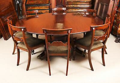 "Vintage 6ft 6"" Round Table  & 8 Bespoke Chairs William Tillman 20th Century"