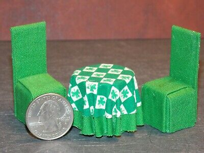 Dollhouse Miniature Kitchen Table Chairs Set 1:24 scale E9 Dollys Gallery