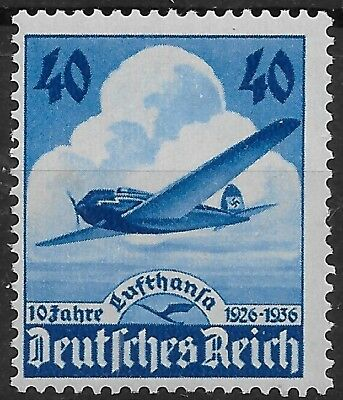 Nazi Germany 3rd Reich Mi# 603 MH 10th Anniversary of Lufthanas Airways 1936 *