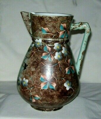Spectacular  E.S.(R.S.) Prussia Depon Water Tankard-Floral/Birds - Excellent