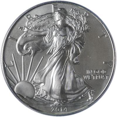 2014-(W) Silver American Eagle $1 PCGS MS70 Struck West Point First Strike STOCK