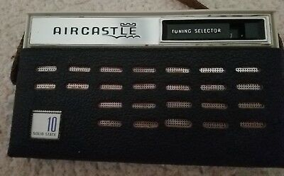 Vintage Aircastle Transistor Radio & Case Works