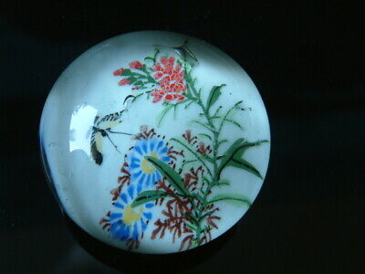 "Chinese ""White"" 1930's Glass Paperweight"