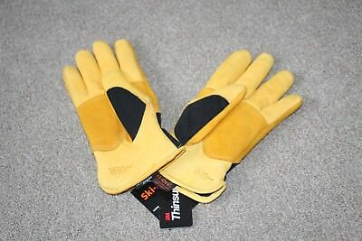 Bnwt Ladies Golden Leaf Winter Touch Gardening Gloves Ski Dri Waterproof Leather