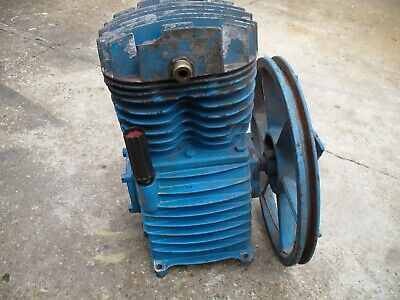 Air Compressor Pump. Twin Cylinder with Pulley. 12-14cfm.  Large compressor Pump
