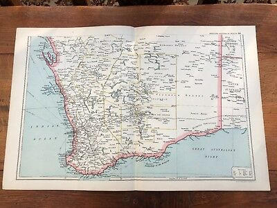 1900s double page map from g.w. bacon - western australia - south