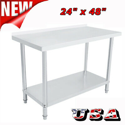 "48"" x 24"" Commercial Stainless Steel Work Table Food Prep Kitchen Restaurant New"