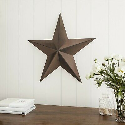 24 Inch Metal Tin Barn Star Indoor 2 Feet Rustic Americana Hanging
