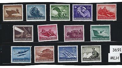 MLH Stamp complete set / 1944 Military Armed forces Nazi Germany Third Reich