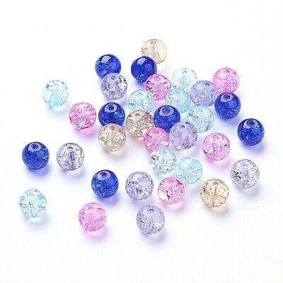 Pack of 400 - 4mm beads! Assorted Cotton Candy Color Crackle Czech Glass Beads