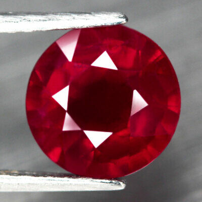 4.25 Ct. Round Facet Natural Ruby Top Blood Red Madagascar Dazzling