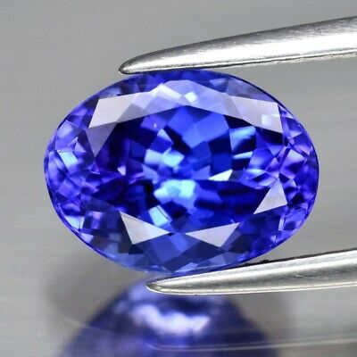 Rare! 1.97ct 8.8x6.7mm IF Clean Oval Natural AAA D-Block Violet Blue Tanzanite