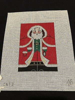 Roll Up Santa By JB  Handpainted Needlepoint Canvas