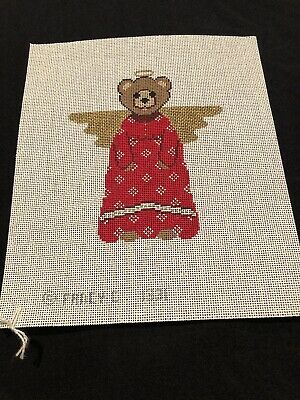 Angel Bear By Fancy C 1331 Handpainted Needlepoint Canvas