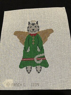 Angel Cat By Fancy C 1335 Handpainted Needlepoint Canvas