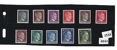 #3548    Small MNH stamp set / Adolph Hitler / Nazi Germany / Third Reich / 1941