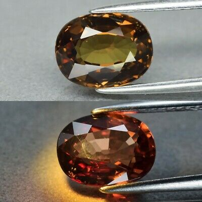 Rare! 2.55ct 9x7mm VS Oval Natural Unheated Color Change Garnet, Africa