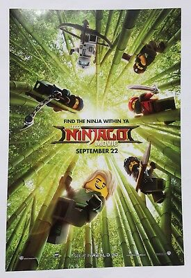 POSTER LEGO NINJAGO Movie 11 ½ X 17 ½ MOVIE POSTER NEW/ROLLED