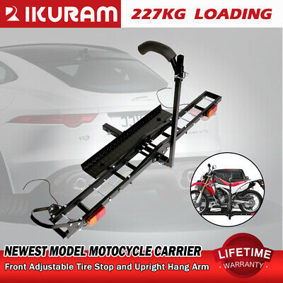 "IKURAM 2 Arms Steel Motorcycle Carrier Rack 2""Towbar Arm Rack Dirt Bike Ramp 4WD"