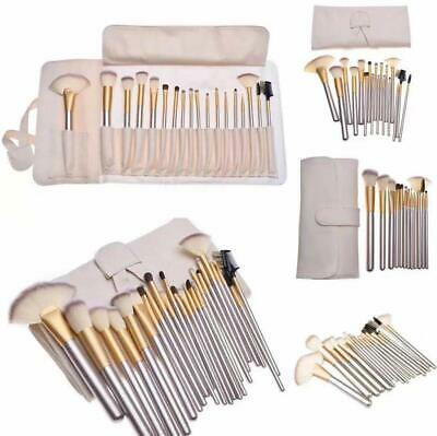 24-tlg. Professionelle Kosmetik Make up Pinsel Brush Echthaar Schminkpinsel Set