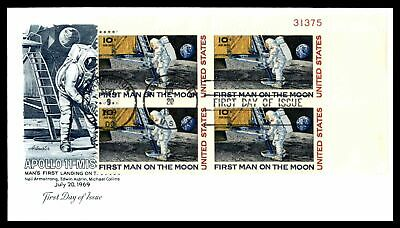 Apollo 11 Mission Plate Block 31375 1969 Artmaster Unsealed Fdc