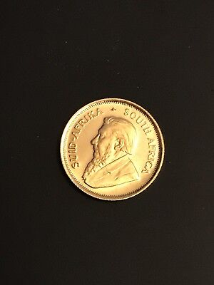 1980 Krugerrand 1/10 oz Gold Coin South Africa Magnificent, Brilliant! Wow!