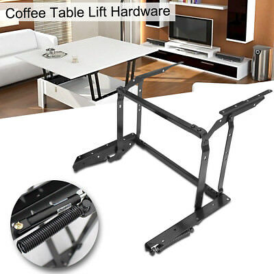 Coffee Table Lift Top Hardware Fitting Furniture Mechanism Hinge Frame Black