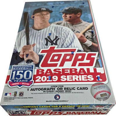 Topps 2019 Baseball Series 1 Factory Sealed Hobby Box + 1 Silver Pack