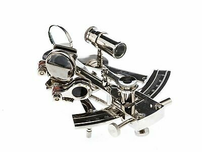 Us Navy Collection German Nickle Finish Nautical Brass Marine Sextant Decor Gift