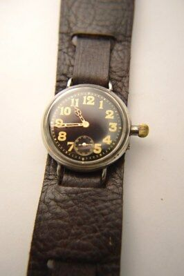WW1 Borgel Trench Watch, Ltnt Powel, 14th Manchesters, British Military BLK dial