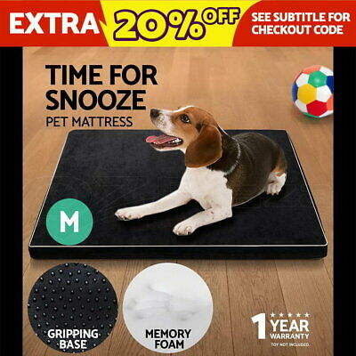 i.Pet Pet Bed Memory Foam Mattress Dog Cat Soft Pad Summer Winter Mat Cushion M