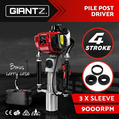 Giantz 4-Stroke Petrol Fence Post Driver Power Pile Hole Drive Picket Rammer