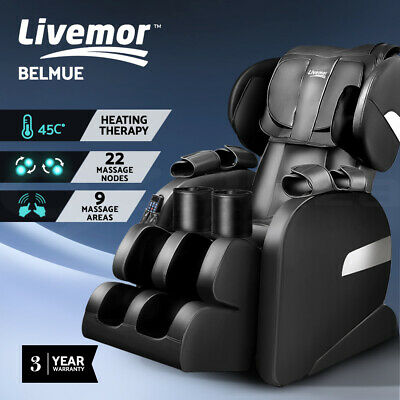 Livemor 4D Electric Massage Chair Recliner SL Track Zero Gravity 52 Air Bags