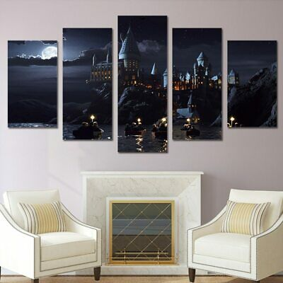 Hogwarts Harry Potter 5 Pieces canvas Print Painting Poster Wall Art Home Decor